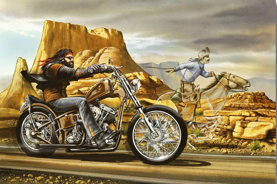 David Mann Ghost Rider Silk Poster 12x18 24x36 24x43