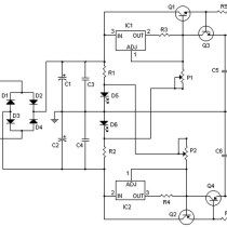 Symmetrical regulated power supply and variable 0 to 30V
