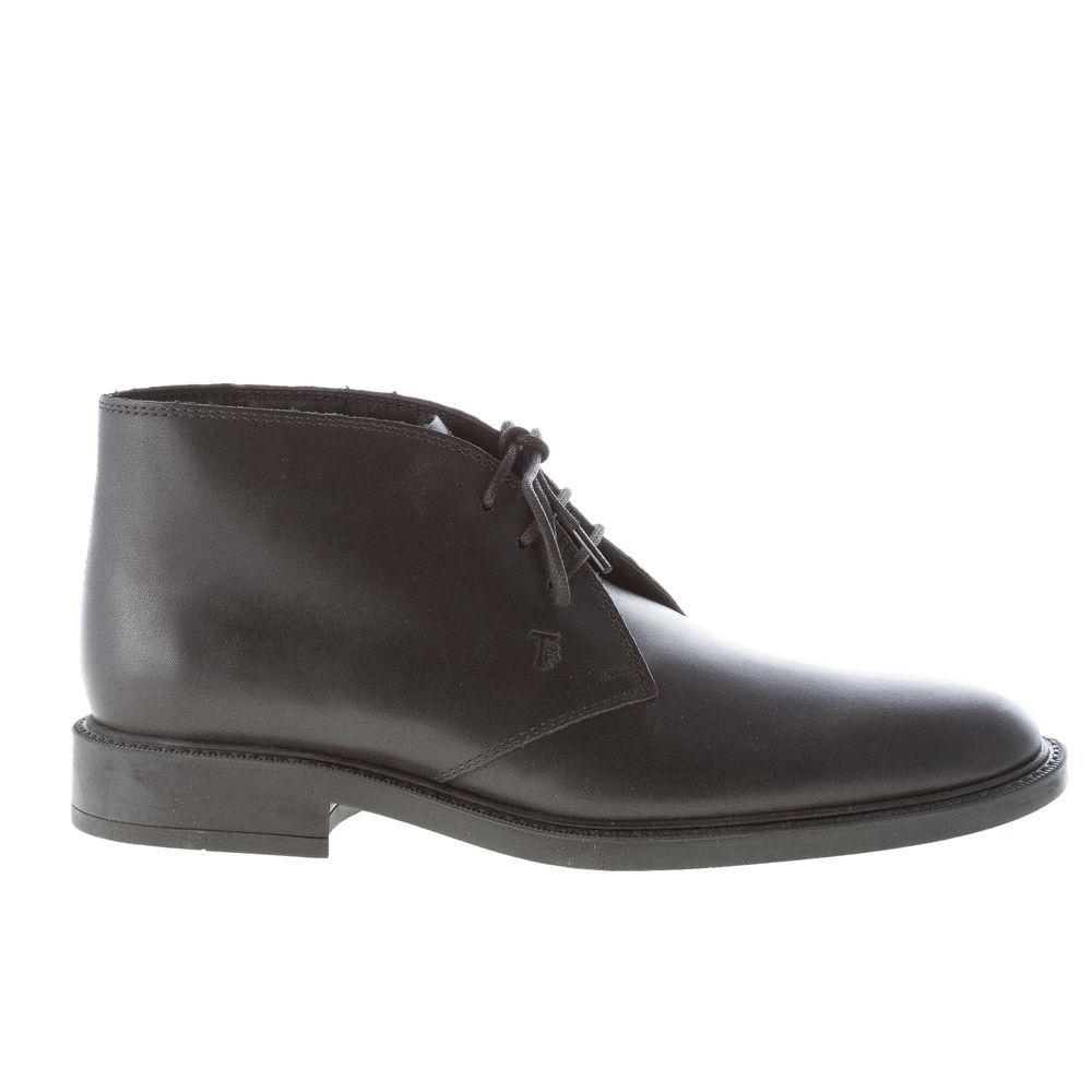 eac8e990711c TOD S men shoes Black soft leather laced boot rubber sole  XXM45A00D80D90B999 (eBay Link)