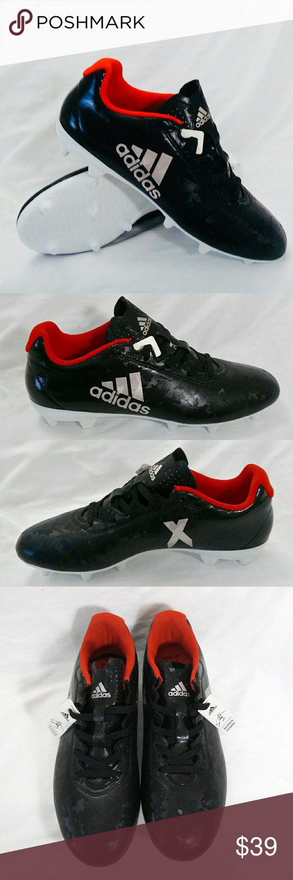 23dd675ec Adidas Women's X 17.4 FG Soccer Cleats Adidas Women's X 17.4 FG Soccer  Cleats US size 6.5 black and red Brand new with some original tags, no box.