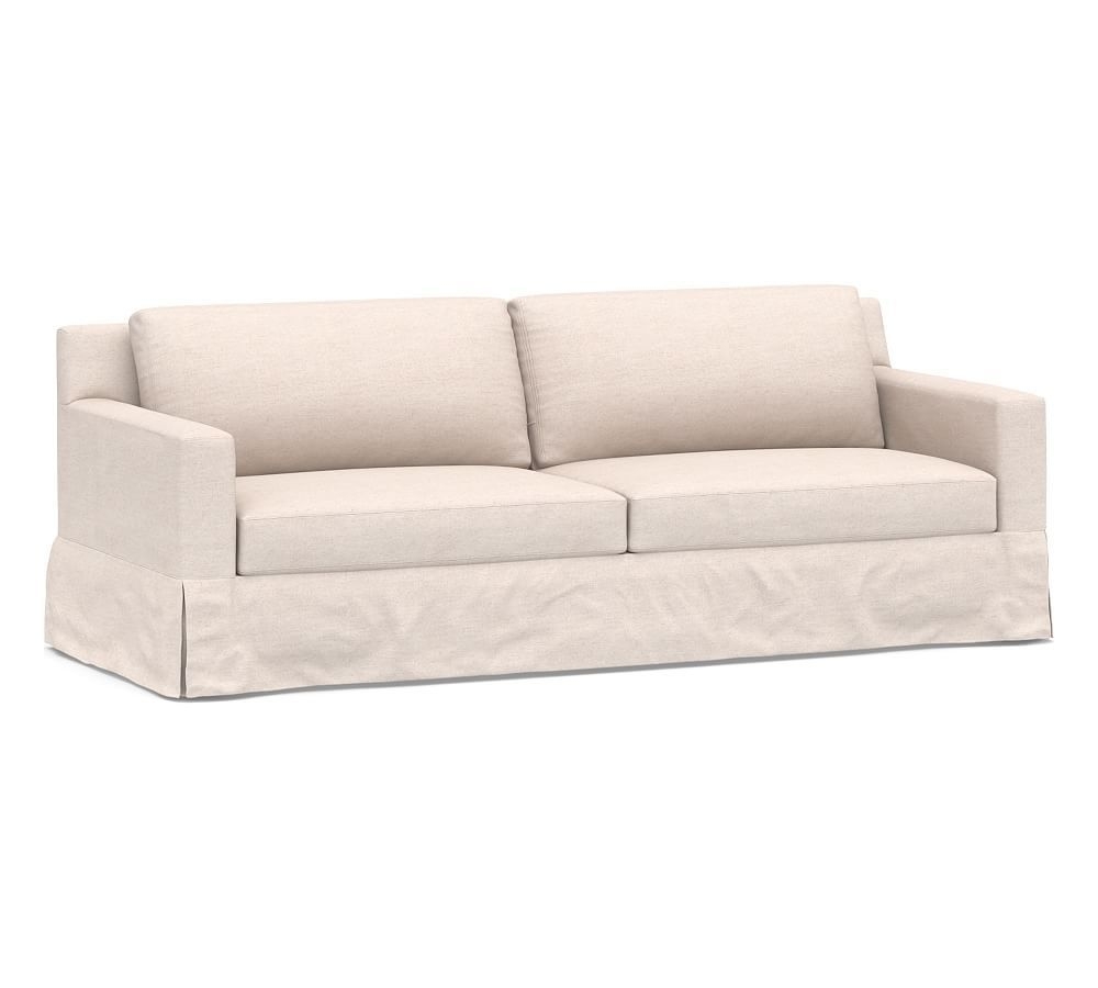 York Square Arm Slipcovered Sofa 80 5