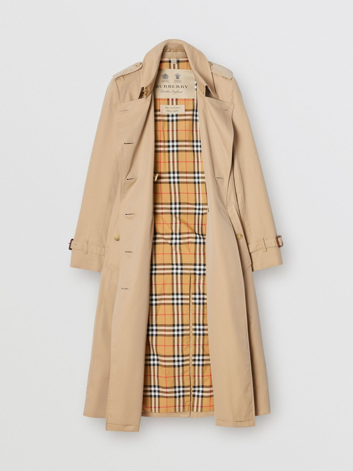 The Long Chelsea Heritage Trench Coat in Honey - W