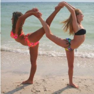 Infinity Best Friend Poses Yoga Poses For Men Yoga Challenge Poses