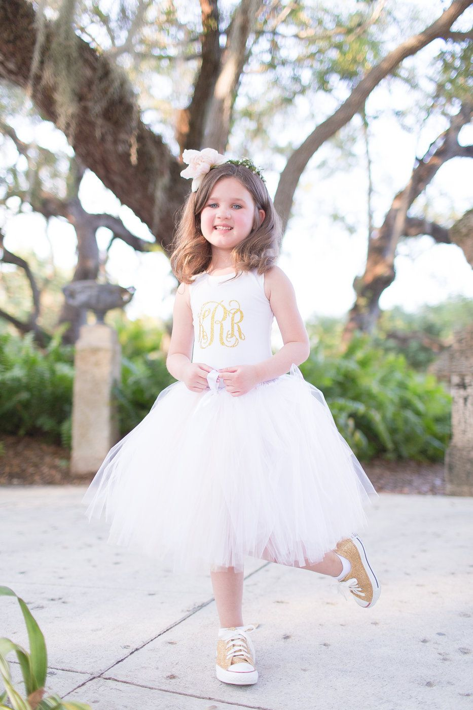 2f0e9bd29187 Flower girl. Tutu and glitter converse. Unique flower girl ideas . Heather  and Collin Wedding Photo By Thompson Photography Group