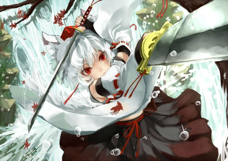 Image result for momiji inubashiri weapons