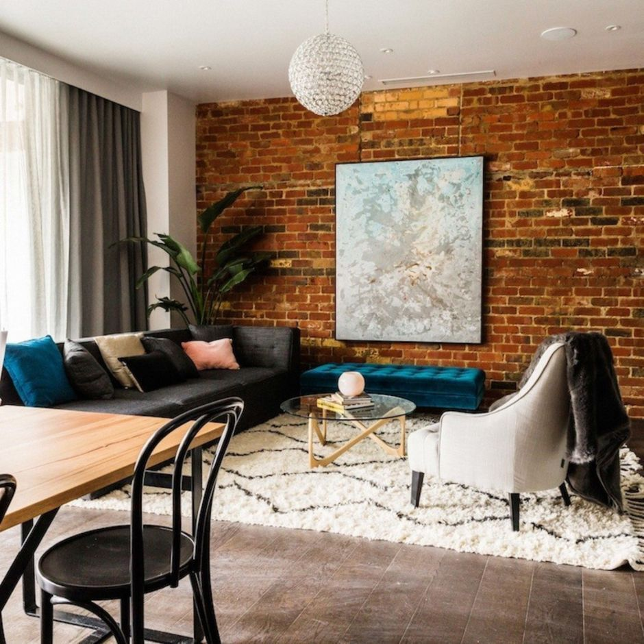 Fascinating Exposed Brick Wall For Living Room 39 With Images