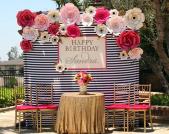 Image result for big size flower backdrop decoration