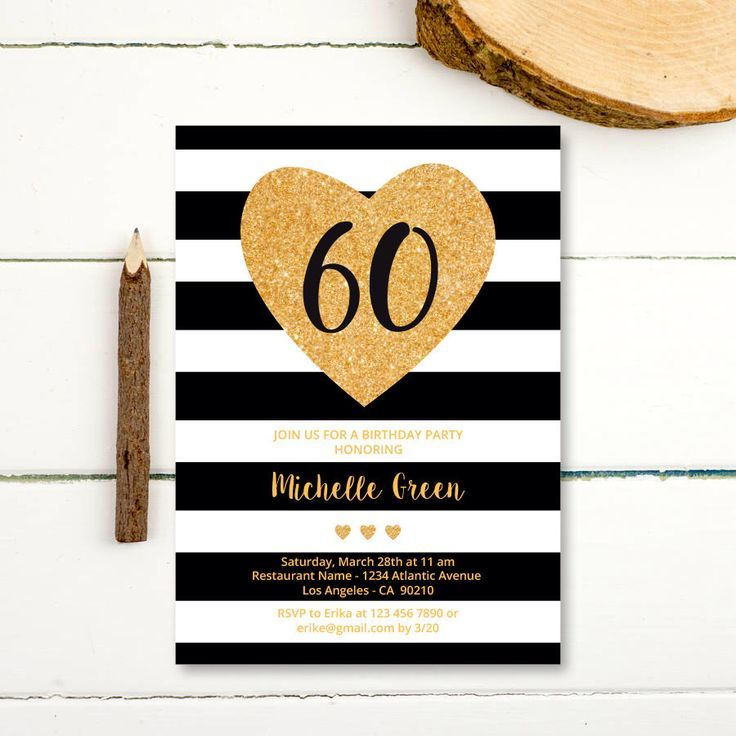 60th birthday invitation black and gold 50th 40th 30th birthday 60th birthday invitation black and gold 50th 40th 30th birthday invitation woman black and filmwisefo Image collections