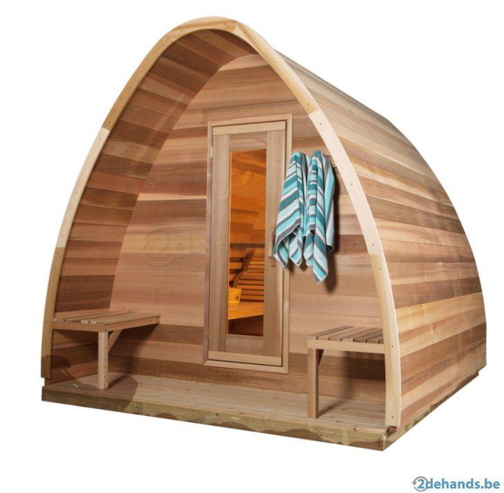 sauna barrel barrelsauna saunapod buitensauna sauna pod backyard projects pinterest. Black Bedroom Furniture Sets. Home Design Ideas