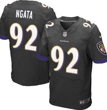 Nike Baltimore Ravens  92 Haloti Ngata 2013 Black Elite Jersey  bdba70a80