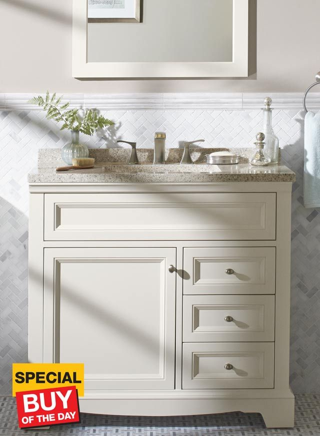 36 Inch Windsor Park Cream Vanity 30 Inch Bathroom Vanity Home Depot Bathroom Small Bathroom Vanities