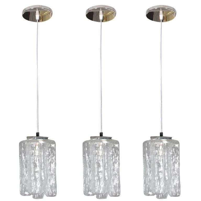 Set of 3 Granada Pendants by Kalmar   From a unique collection of antique and modern chandeliers and pendants  at http://www.1stdibs.com/furniture/lighting/chandeliers-pendant-lights/
