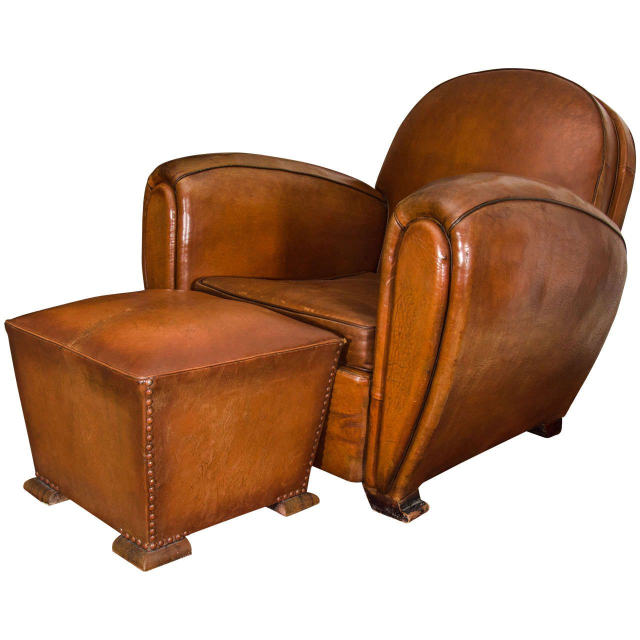 french round back leather club chairs - Club Chair