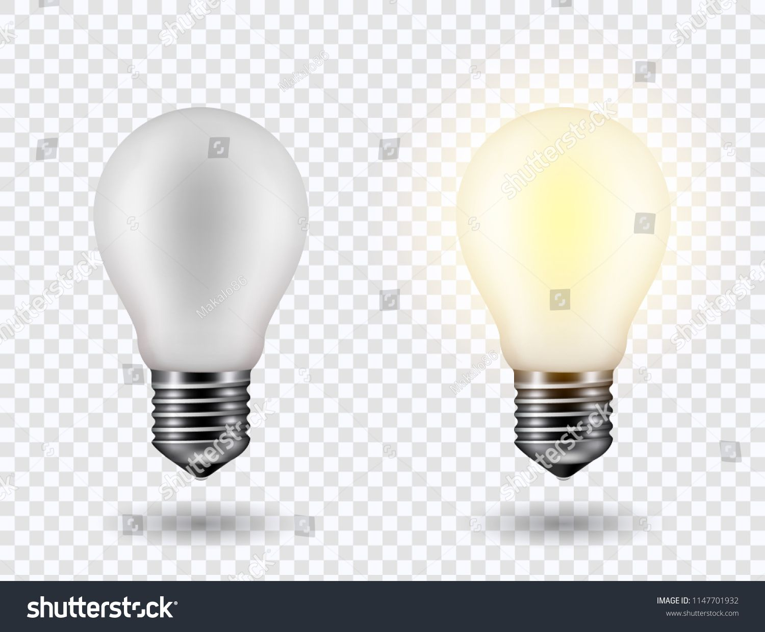 Vector Image Of A Light Bulb Realistic 3d Object On A Transparent Background The Effect Of Light The Symbol Of Creati Light Bulb Transparent Background Bulb