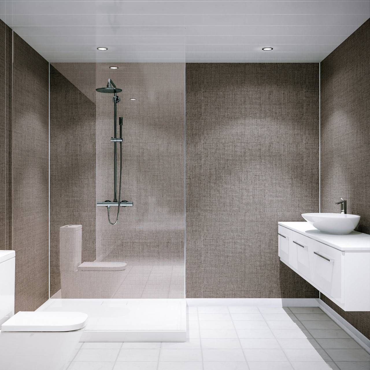25 Shower Wall Panels Instead Of Tiles With Images Shower Wall Panels Bathroom Shower Design Bathroom Wall Cladding