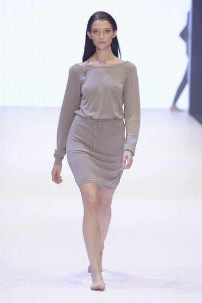 Model Fata Hasanovic walks the runway for Delicatelove as part of ...