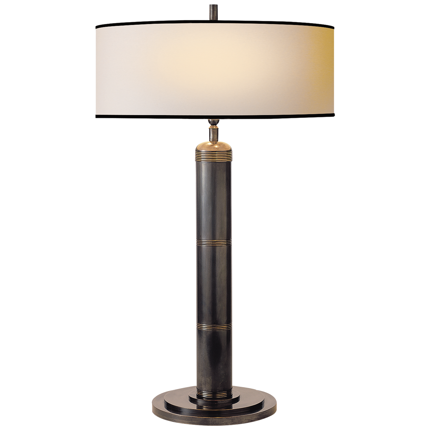 Longacre tall table lamp in bronze with natural paper shade and longacre tall table lamp in bronze with natural paper shade and black trim geotapseo Gallery