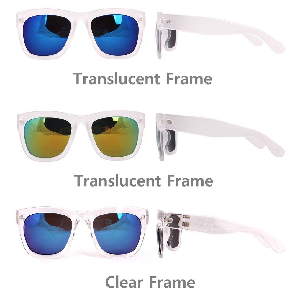 JONTE Basic Simple Square Sunglasses Women Men Bold Horn Glasses Mirror Lens #JONTE #Square