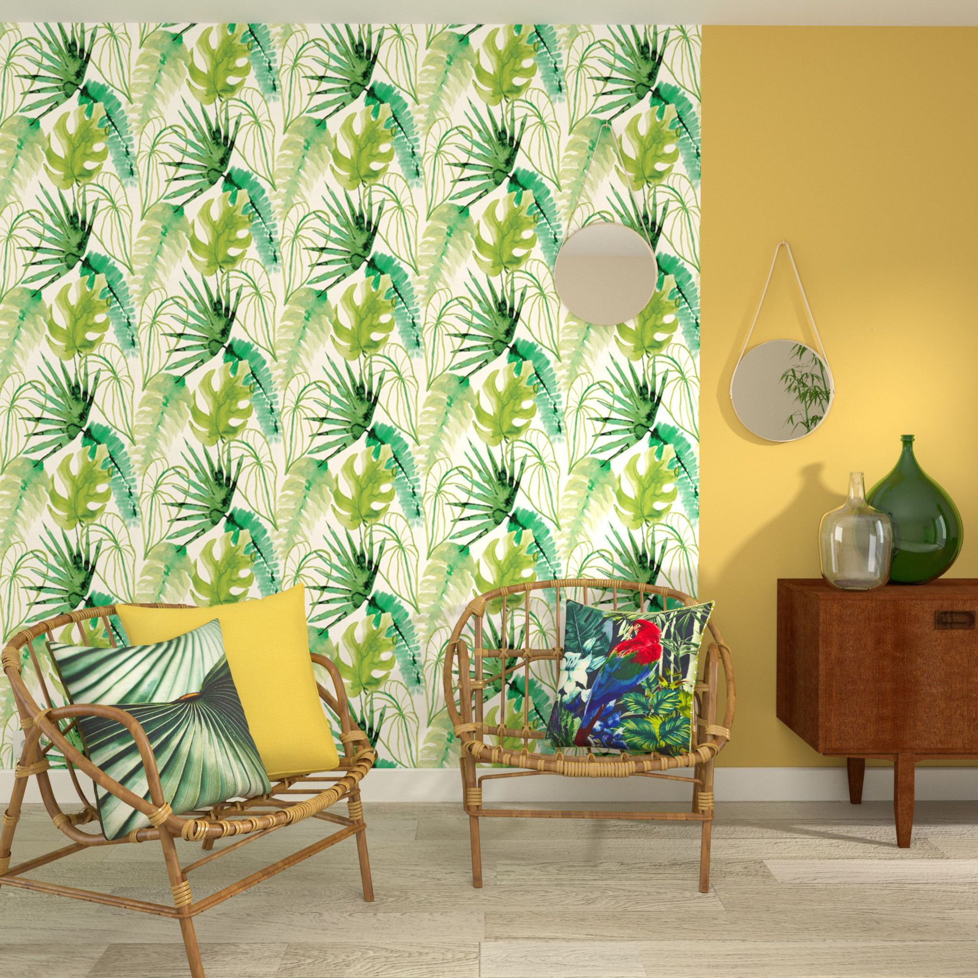 Tropical living room, Praxis. http://www.facebook.com/kenisa.home ...