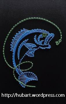 String art fish pregos 2 pinterest string art and craft for Fish string art