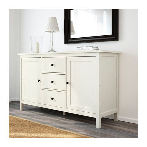 hemnes sideboard white stain hemnes white stain and solid wood. Black Bedroom Furniture Sets. Home Design Ideas