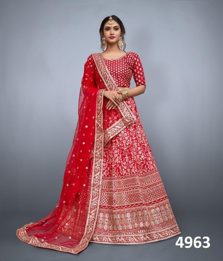 a466fe881a Charismatic Heavy Embroidered Wedding Wear Lehenga Choli in 2019 ...