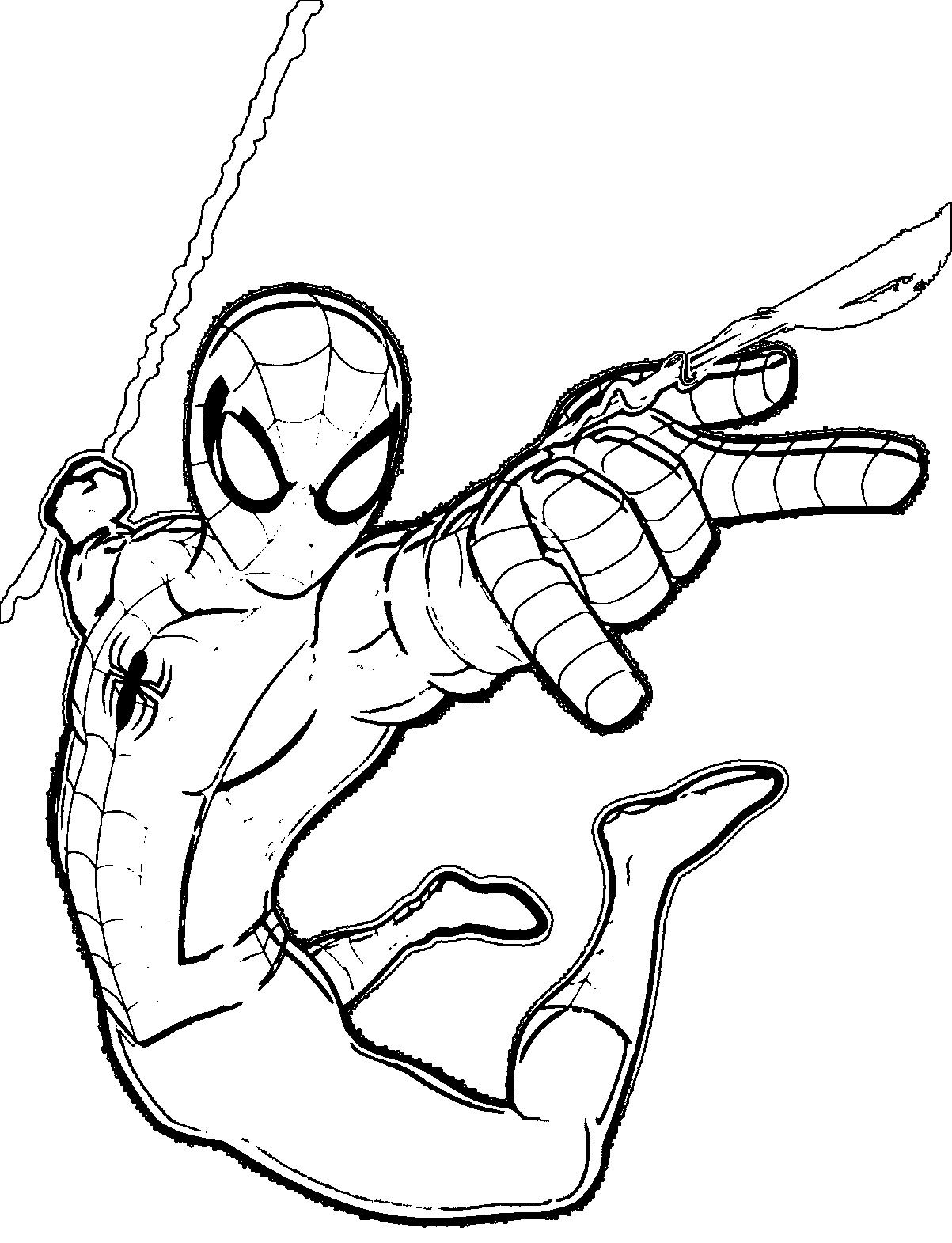 Printable Spiderman Coloring Pages Easy And Fun Free Coloring Sheets Spiderman Coloring Marvel Coloring Spiderman Drawing