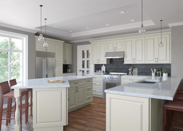 How Do You Like This Kitchen Design With Peninsula Curved Island