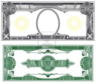Blank Banknote Layout With Obverse And Reverse Based On Dollar Money Template Bank Notes Money Notes