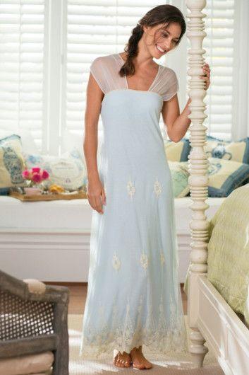 Antoinette Gown Nightgown Built In Bra Shelf Bra