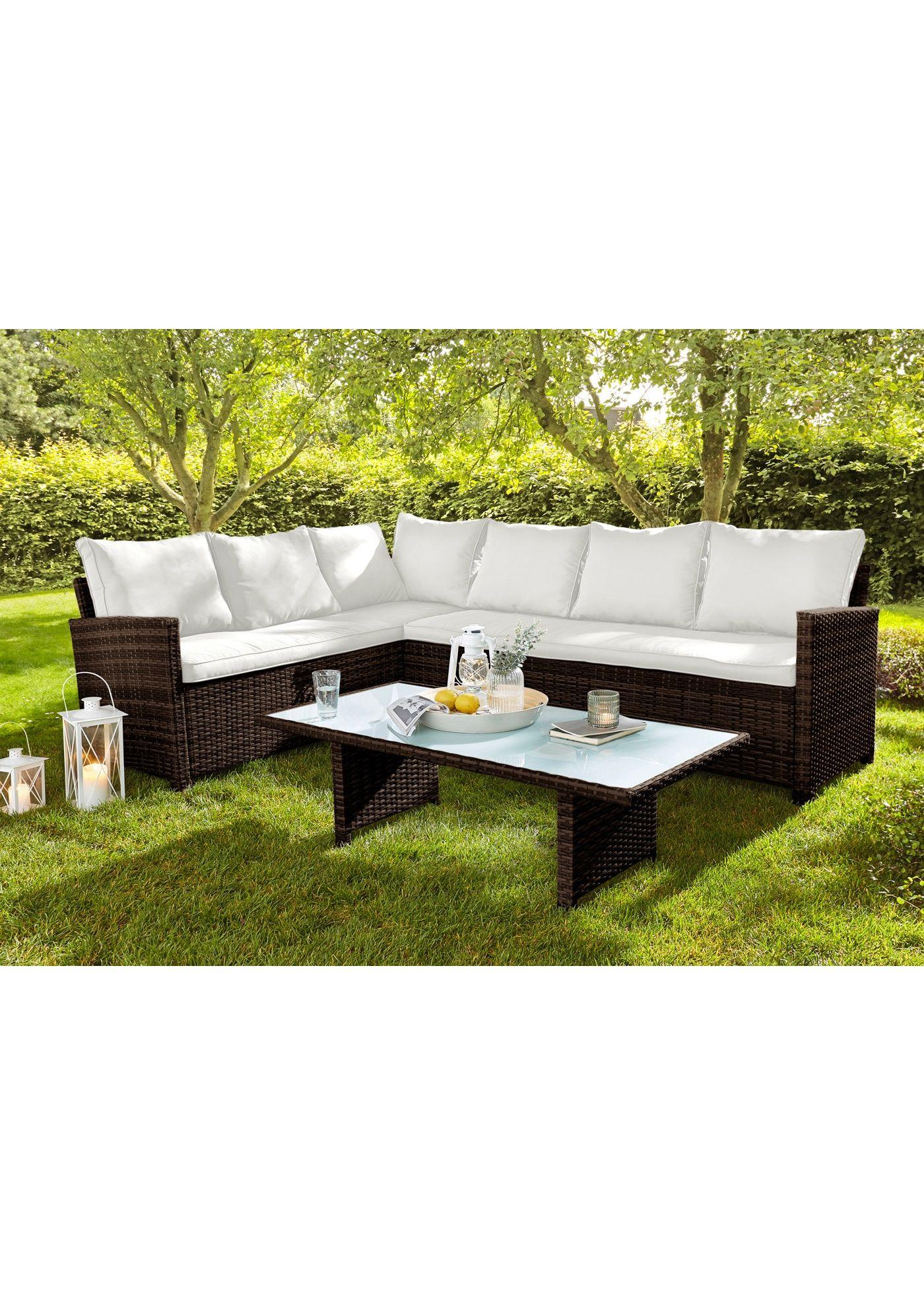 Dieses Loungeset Bestehend Aus Bank Und Tisch Sorgt Fur Gemutlichkeit In Ihrem Garten Oder Auf Ihrer Terrasse Die 7cm Dicken Lounge Mobel Lounge Aussenmobel