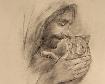 Jesus With Cat