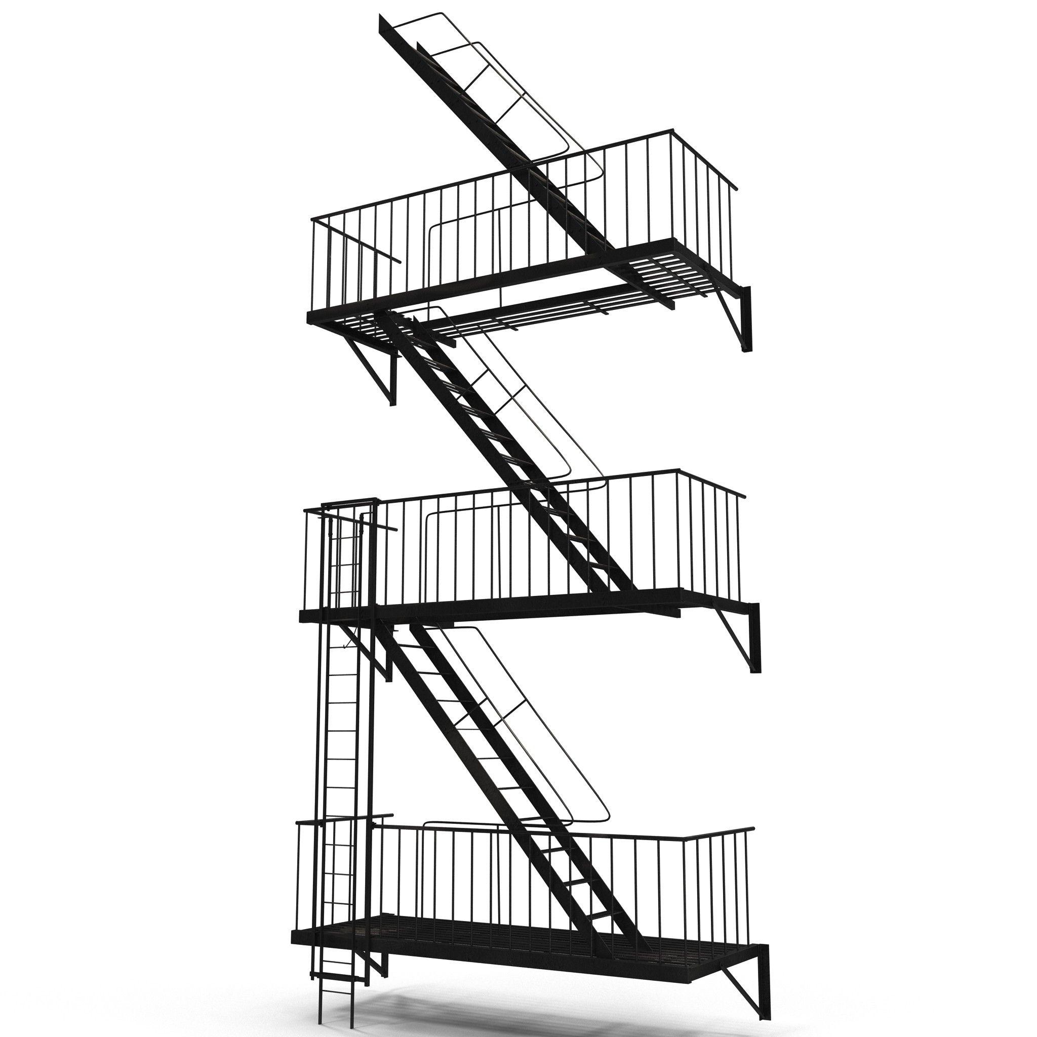 Best Escape Stairs 3D Model 400 x 300