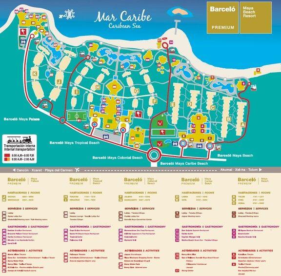 mayan palace cancun map Barcelo Maya Beach Resort Mexico Maps Barcelo Maya Barcelo Maya Palace Barcelo Maya Colonial mayan palace cancun map
