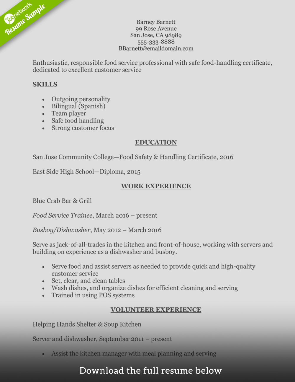 How To Write A Perfect Food Service Resume Examples Included Resumeexamplesmanagement Good Resume Examples Resume Examples Overused Words