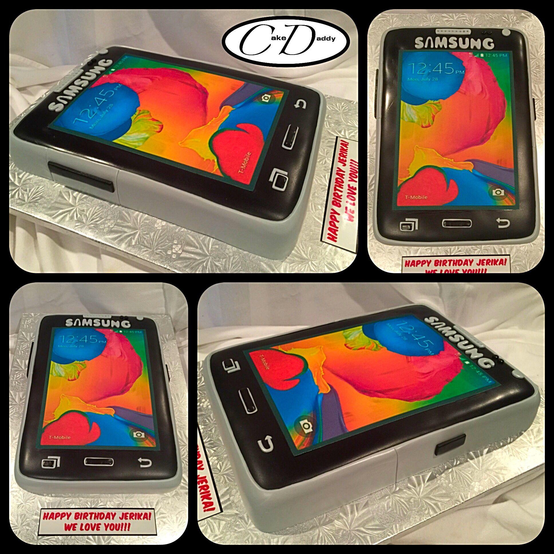 Samsung Avant cell phone birthday cake Custom Cakes by Cake Daddy