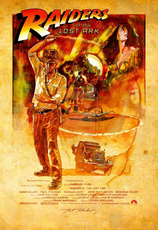 Raiders Of The Lost Ark By Markmchaley On Deviantart Carteles De Cine Cine Fantastico Cine