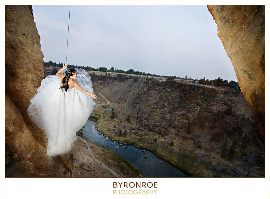 Trash The Dress post wedding photography session at Smith Rock State ...