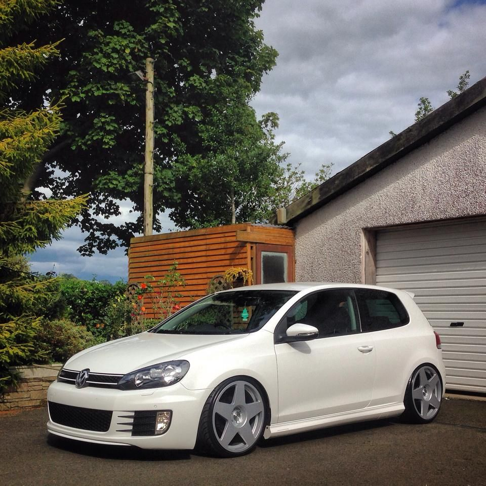 "VW Golf GTi with 18"" Bola B10 mk6 Pinterest"