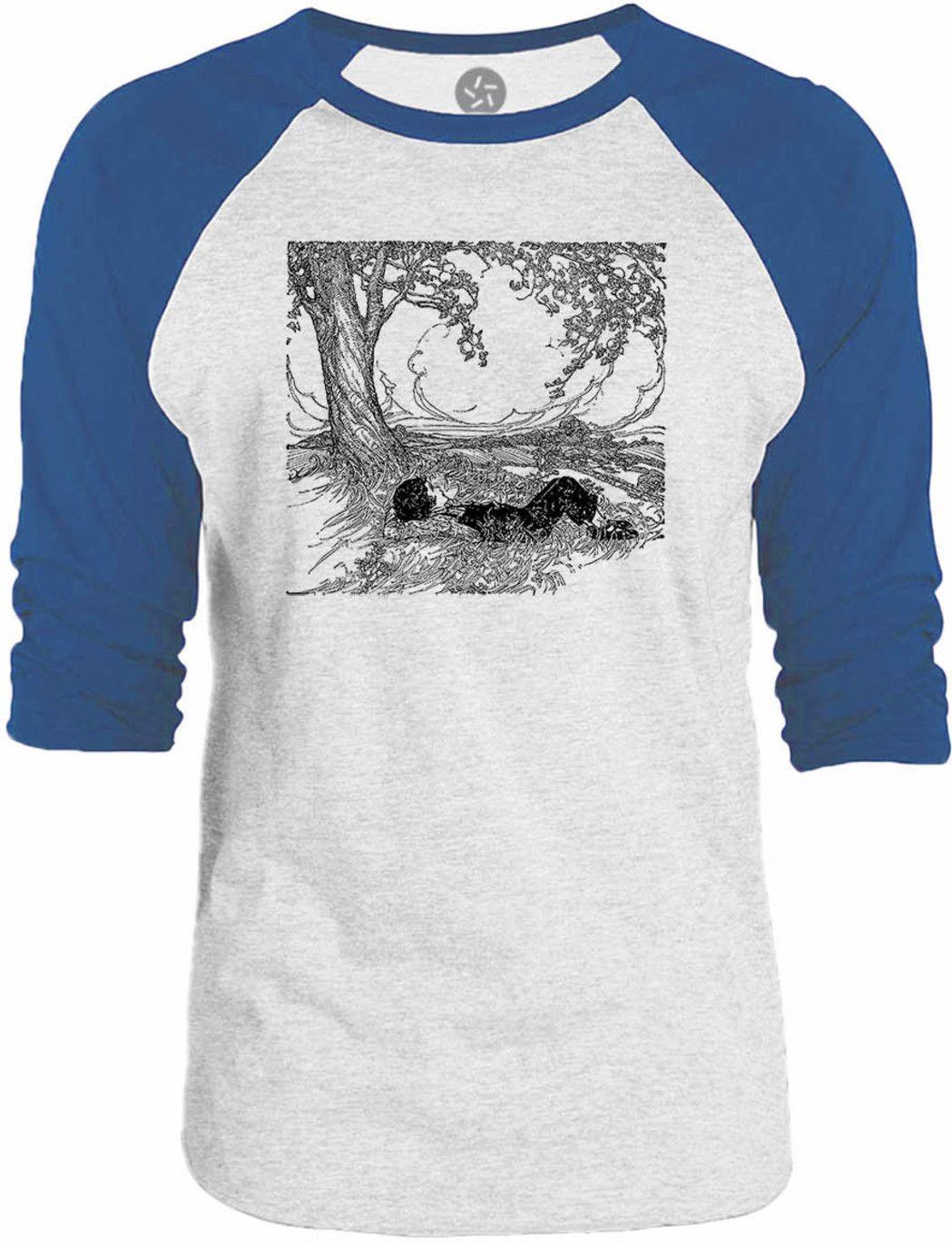 Big Texas Laying under a Tree 3/4-Sleeve Raglan Baseball T-Shirt
