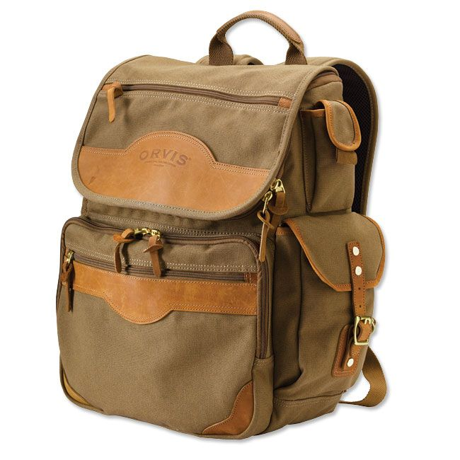 Just found this Canvas and Leather Business Backpack - Montana ...