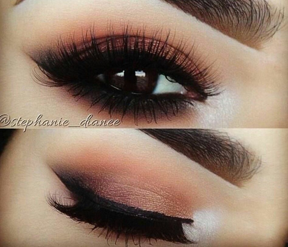 Dark night time smoky eye