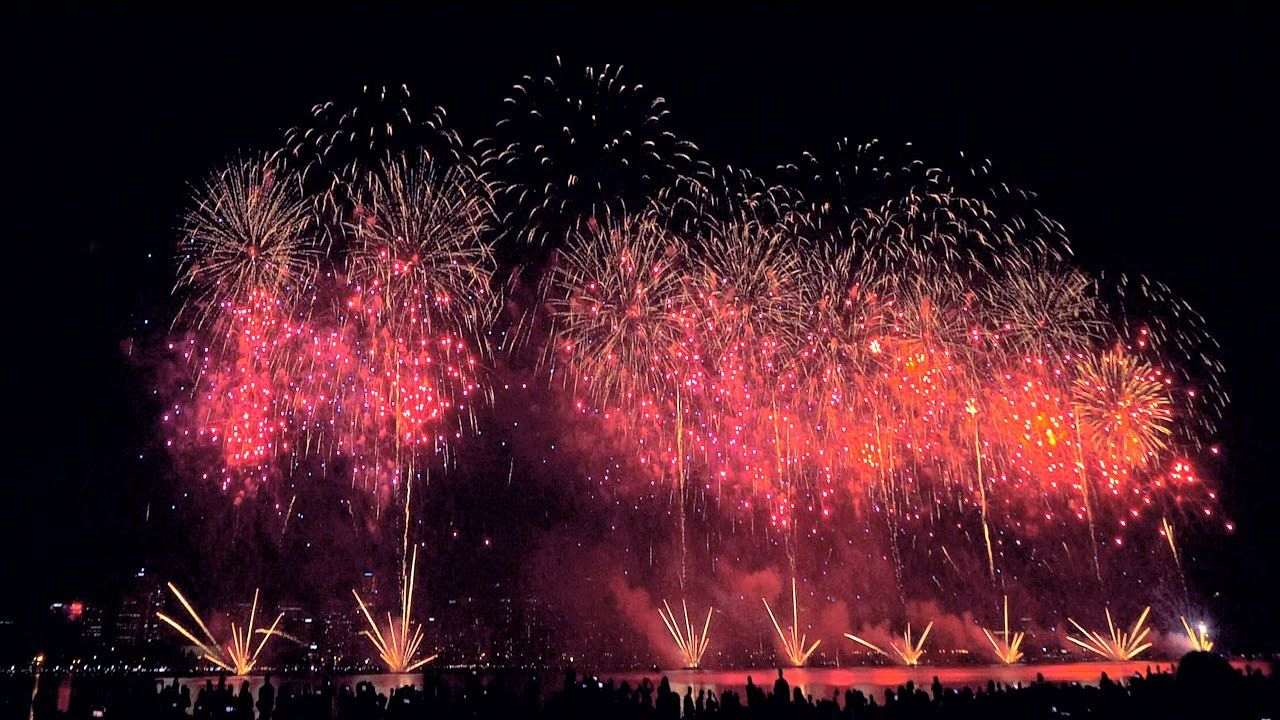 Happy Australia Day Perth Fireworks Happy Chinese New Year