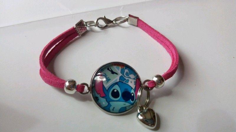 Papillon Bleu Photo Cabochon Verre Cuir Tissage meilleure qualité Bracelet Fashion