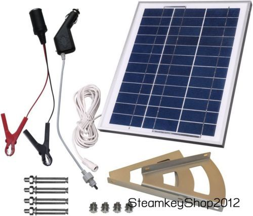 Solar Kit Charging Battery 10w 12v Panel Portable Power Charger Rechargeable Set Solar Solar Panels Best Solar Panels