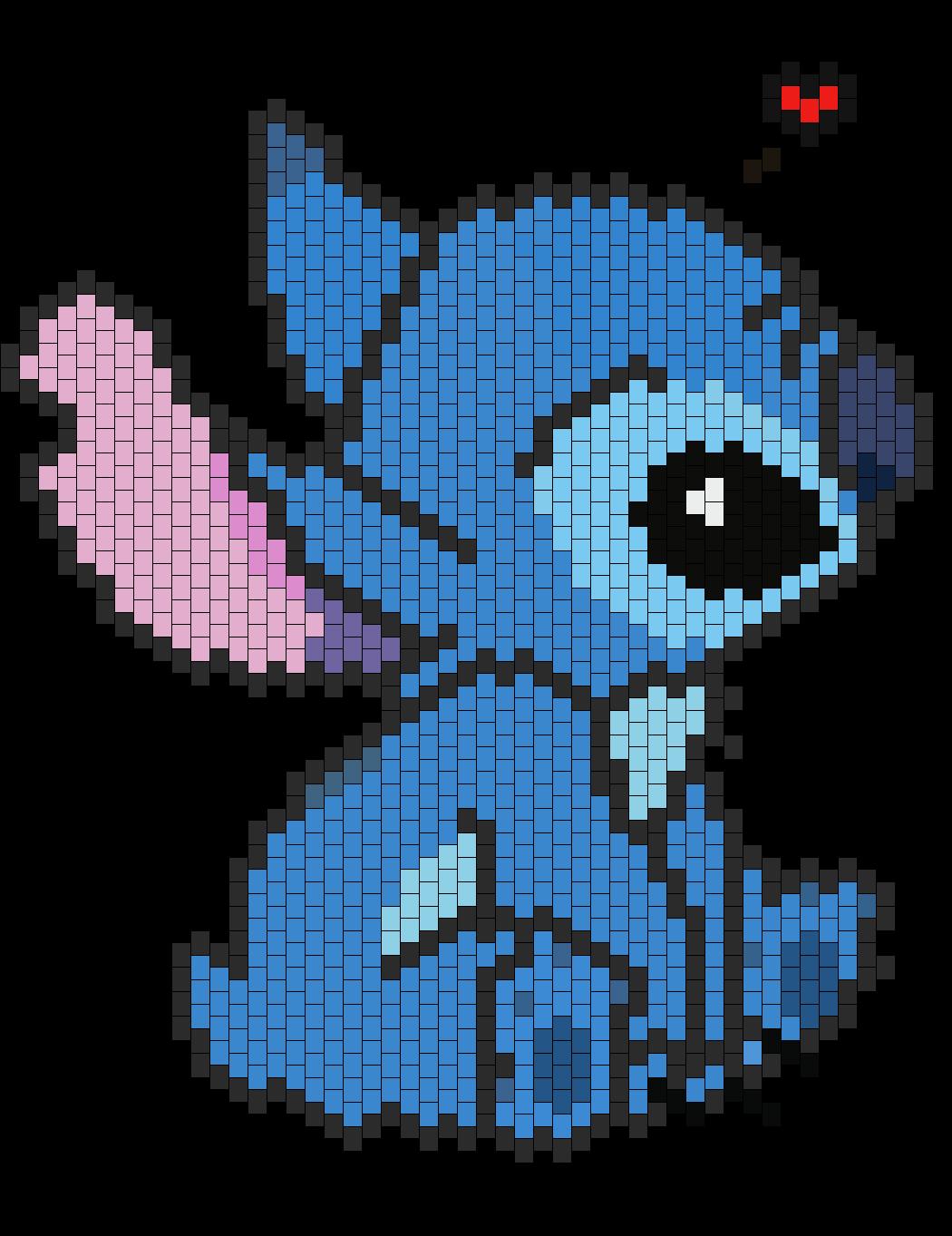 Stitch Bead Pattern Pixel Art Pixel Art Personnage Et
