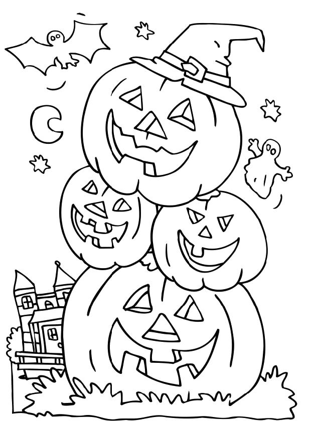 Spooky Pumpkins Worksheet Education Com Pumpkin Coloring Pages Halloween Coloring Halloween Coloring Pages