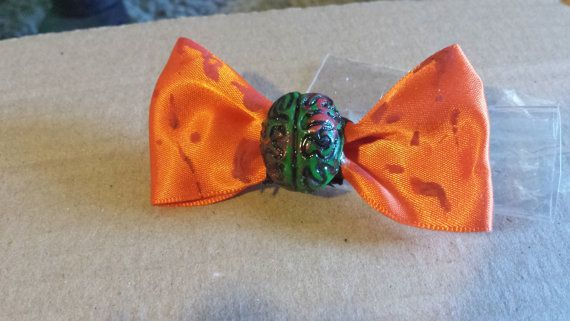 I love Brains... hair clip by mommymisfit on Etsy, $3.00