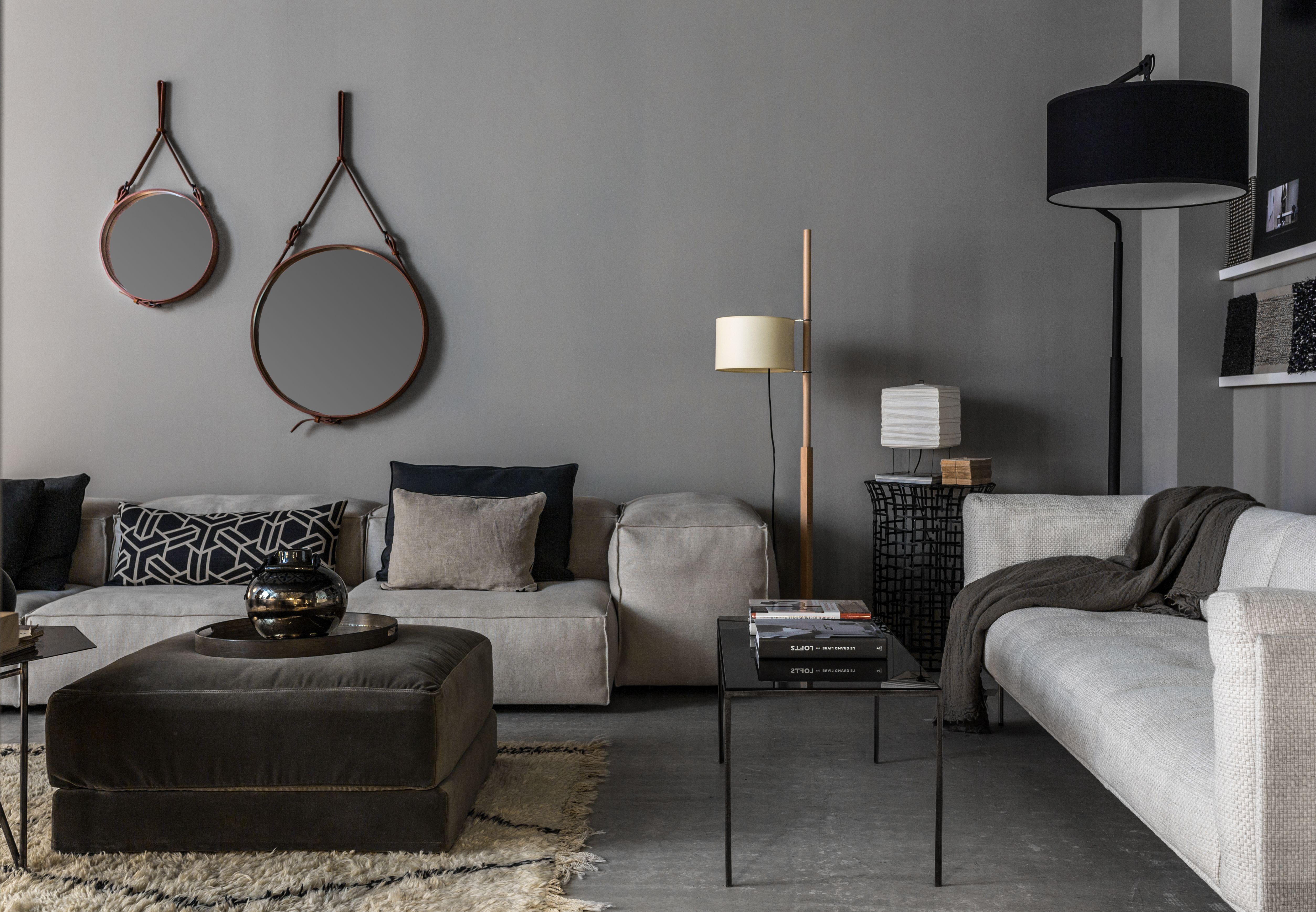 miroirs gubi canap extrasoft living divani lampe. Black Bedroom Furniture Sets. Home Design Ideas