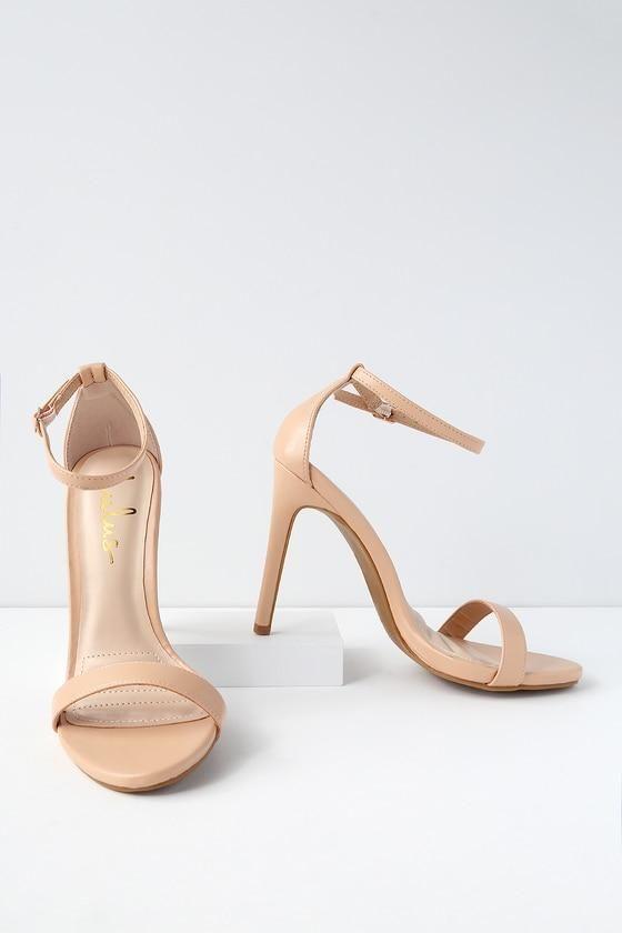 Lulus Maxine Rose Patent Ankle Strap Heels - Lulus 4hKrK